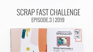 Download Scrap Fast 15 Minute Challenge | Episode.3 Traveler's Notebook Layout Video