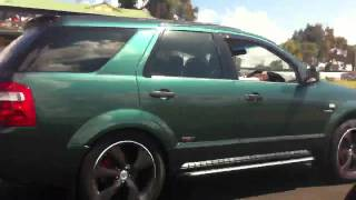 Download VX SS Turbo getting hosed by 11sec F6 Territory Video