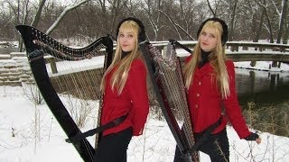 Download CAROL OF THE BELLS - Harp Twins - Camille and Kennerly Video