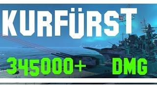 Download Großer Kurfürst - World of Warships - 345k DAMAGE Video
