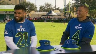 Download Zeke and Dak Interview at The Pro Bowl Video
