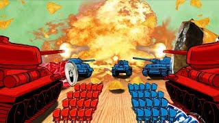 Download Minecraft | RED VS BLUE BASE CHALLENGE! (TINY ARMY MEN FORT WAR) Video