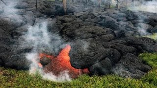 Download Lava flow threatening homes in Hawaii Video