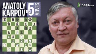 Download Anatoly Karpov's 5 Most Brilliant Chess Moves Video
