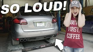 Download STRAIGHT PIPING THE PORSCHE CAYENNE TURBO! (too loud?) Video