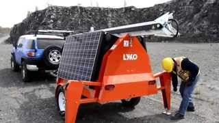 Download AMU-800 Solar and Wind Powered Trailer Deployment and Transport - by LYKO systems Video