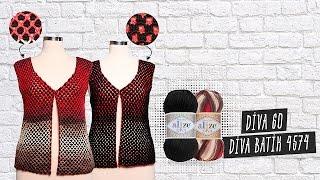Download Alize Diva ile Tığ İşi Çift Taraflı Yelek Yapımı - Making Crochet Work Double Sided Vest Video