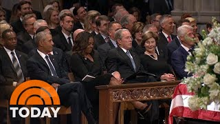 Download Michelle Obama Explains Viral Cough Drop Moment With George W. Bush | TODAY Video