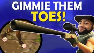 Download GIMMIE THEM TOES | DAEQUAN SNIPES ARE INSANE | HIGH KILL FUNNY GAME - (Fortnite Battle Royale) Video
