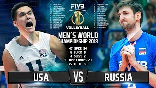 Download USA vs. Russia | Highlights | Final 6 Mens World Championship 2018 Video