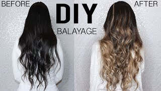 Download HOW TO: DIY BALAYAGE+OMBRE HAIR TUTORIAL AT HOME - FROM DARK TO BLONDE Video