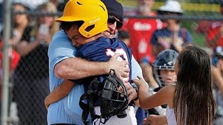Download Marine Dad Surprises Kids With Umpire Disguise for Baseball Homecoming Video