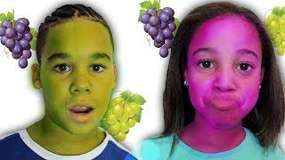 Download Magic Grapes Turn Our Faces Purple and Green | FamousTubeKIDS Video
