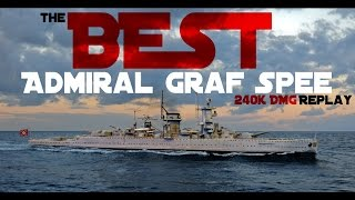 Download Admiral Graf Spee 240K DMG - and A ton of luck || World of Warships Video