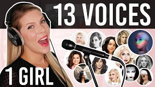 Download 1 GIRL 13 VOICES (Ariana Grande, Lady Gaga, Selena Gomez, Cher and many more) Video