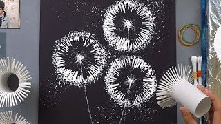 Download Toilet Paper Rolls Dandelion Q Tip Painting Technique | Easy Creative Art Video