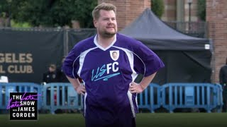 Download James Corden Challenges LAFC To Soccer Match Video