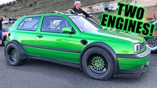 Download This VW Golf Makes 1600 HORSEPOWER! (Twin Engine & Twin Turbo!) Video