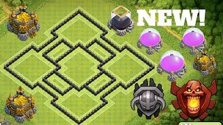 Download New EPIC TOWN HALL 8 (TH8) TROPHY BASE DEFENSE! 2016   TH8 Loot Protective Base Video