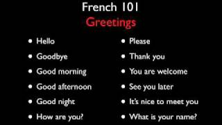 Download Learn French with French 101 - Greetings - Level One Video