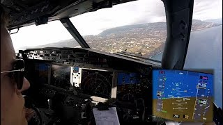 Download Boeing 737 MAX 8 - Landing in Funchal, Madeira - cockpit view Video