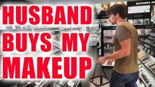 Download HUSBAND BUYS MY MAKEUP CHALLENGE Video