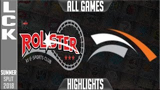 Download KT vs HLE Highlights ALL GAMES | LCK Summer 2018 Week 8 Day 1 | KT Rolster vs Hanwha Life Esports Video