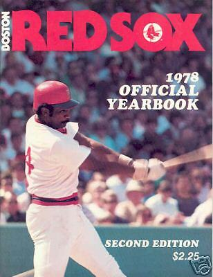 BOSTON RED SOX 1978 2nd Edition YEARBOOK UNCIRCULATED