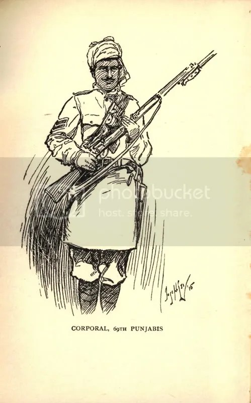 Corporal, 69th Punjab Regiment, France 1915 - sketched by LCpl Joseph Lee 1/4BW