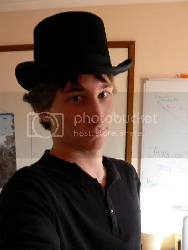 Me. With a hat.