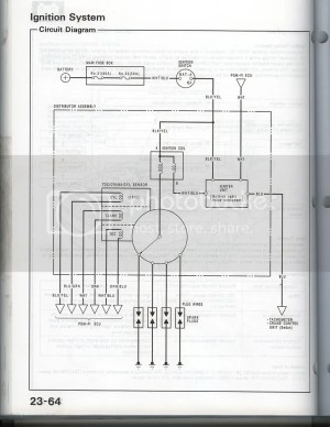 Wiring Diagram for a 91 SI (MPFI) distributor?  Honda