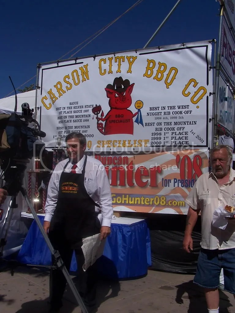 Duncan Hunter at the Best of the West Rib Cookoff