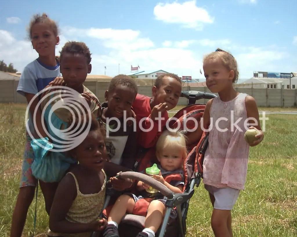 kai with street kids