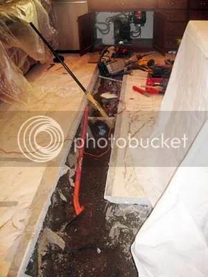 hot water slab leak repair cost