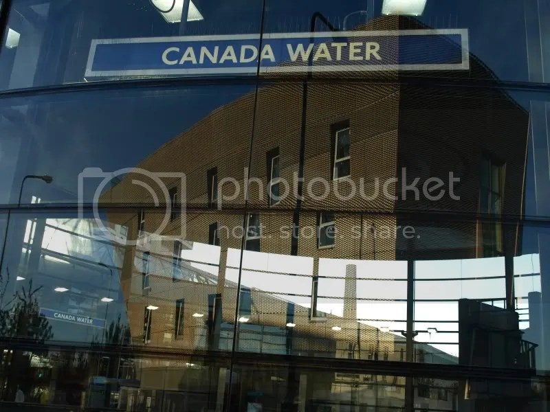 Canada Water tube and library