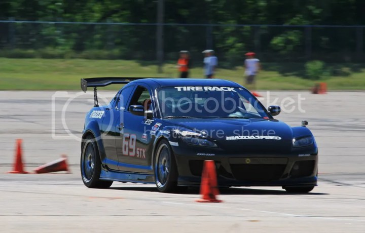 Michael Kuhn's Mazda RX-8 at SCCA Pro Solo Nationals- photo by Bryan Heitkotter