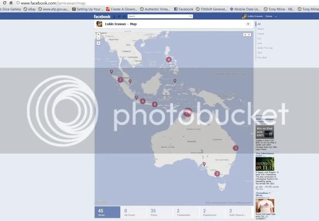 Facebook Timeline Map