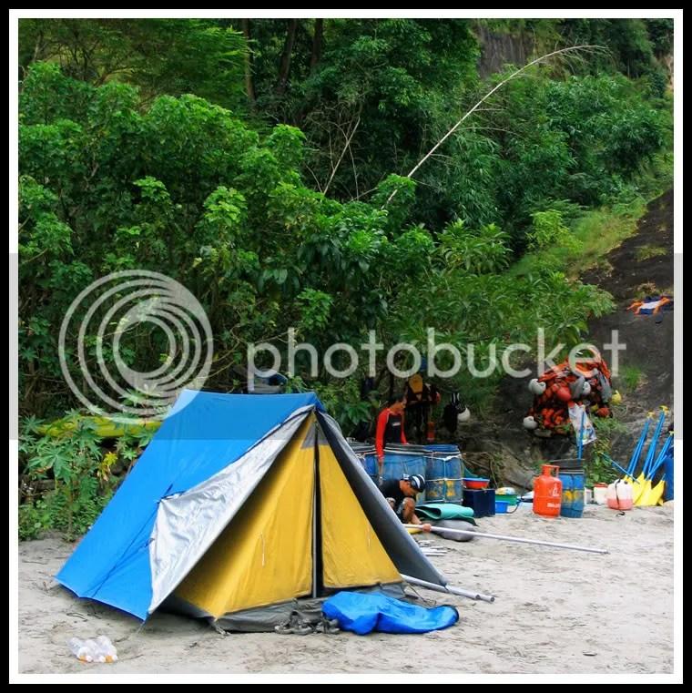 Nepal, Kali Gandaki, Rafting, Tent