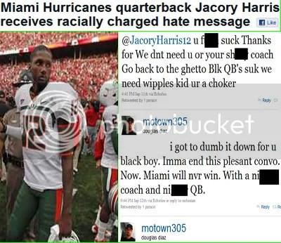 Jacory Harris racial twitter