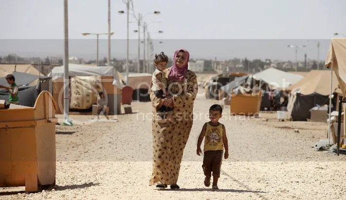 Refugee Camp Constructed by Jordan for Syrian Refugees