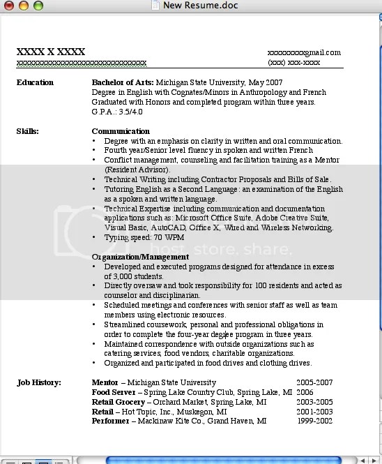 Functional Samples Guide Rg. Student Resume Skills Section