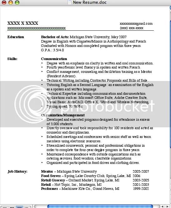 Job Resumes Examples Skills. Good Resume Summary Good Resume
