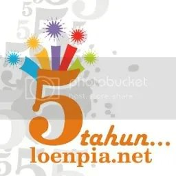 logo ultah loenpia.net ke-5