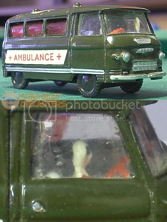 It's an ambulance, so maybe that's the driver's ghost?