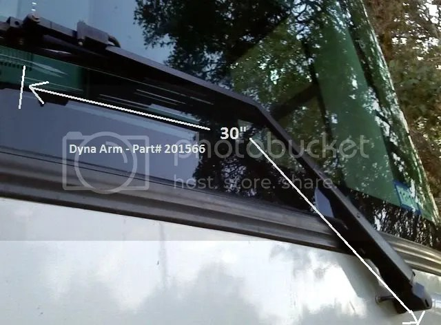 Dyna Windshield Wiper Arms
