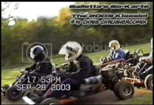 The 1st of 100-laps for the 8th annual 2003 Galletta's Go-Kart Klassic!