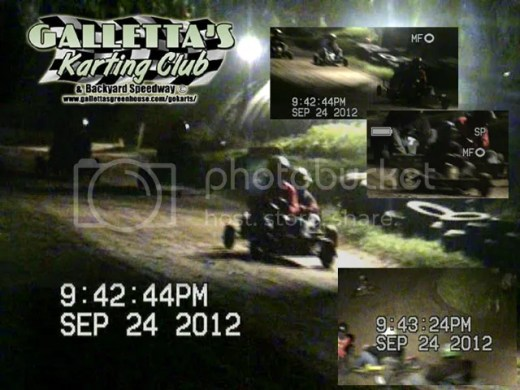 2012/09/24 racing action at Galletta's Backyard Karting Speedway!