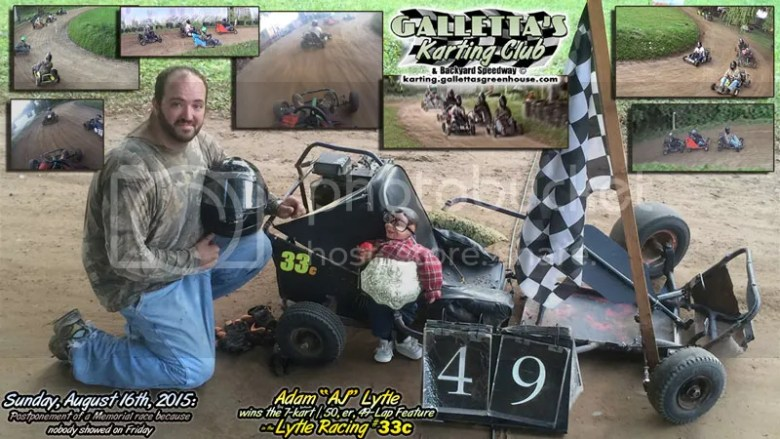 Adam Lytle wins 8/16/2015 feature - his career 4th.