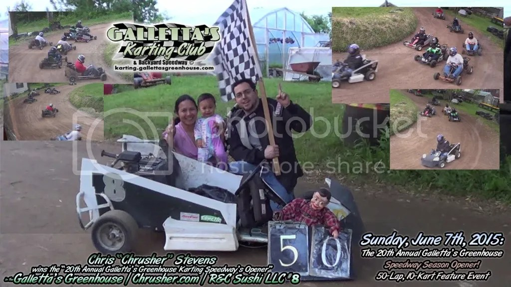 "Chris Stevens poses with his wife Rungnapha ""Aou"" and their daughter Faith Marie after the 20th Annual Galletta's Karting Opener! photo 2015-06-07-08-40pm-chris-wins-opener-19020"