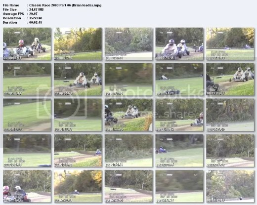 Captures from our 2003 Galletta's Kart Klassic DVD!